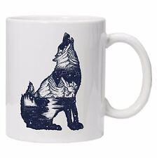 Spirit Animal Double Exposure Unique Tea Coffee WOLF Mug Cup gift Birthday