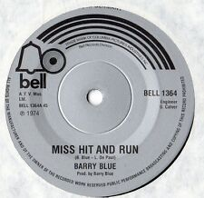 """Barry Blue - Miss Hit and Run 7"""" Single 1974"""
