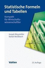 Statistische Formeln und Tabellen von Rafael Weissbach und Josef Bleymüller (2015, Taschenbuch)