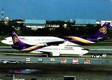 Thai Airways , Boeing 747-4D7 , Ansichtskarte