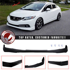 Fits 13-15 Honda Civic 4Dr Ikon Front Bumper Lip Spoiler (Urethane)