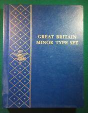 Whitman Bookshelf Album #9516  GREAT BRITAIN MINOR TYPE SET - VERY RARE