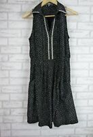 MAXSHOP Dress Sz 10 Black and White polka dot