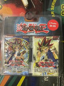 1996 Yugioh Trading Card Packs 2 New Legacy Darkness Ancient Sanctuary Konami