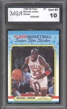 1988 Fleer #7 Sticker  Michael Jordan  MJ 23 45 GRADED GEM MINT 10 - SUPER RARE