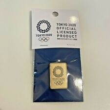 Tokyo 2020 pin Japan official licensed product Olympic gold color
