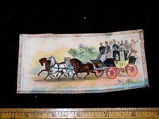 1870s-80s Full Stage Coach Scene Trevere, Paris Kid Gloves Trade Card F19