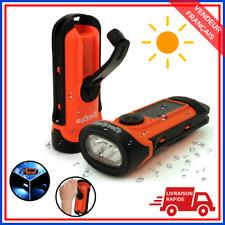 Igadgitz Xtra Lampe Torche LED Rechargeable Solaire & Manivelle Étancheà 5m AV
