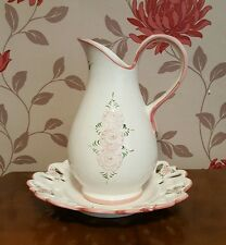 Vestal Portugal Jug and Plate Hand Painted      (pt17)