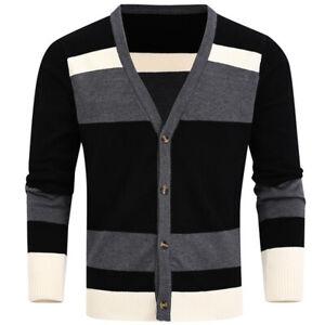 Mens Sweaters Fashion Warm Long Sleeve Pullover Winter Crew Neck Sweatshirt
