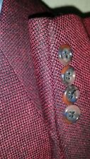44R Atomic Evening Night CLUB Black PINK Tweed Sport Coat Blazer WOOL Jacket