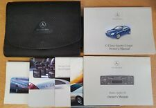 MERCEDES C CLASS SPORTS COUPE OWNERS MANUAL HANDBOOK 2000-2004 PACK D-577 !