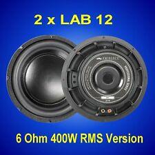2 X Eminence Speaker Altavoz Subwoofer LAB12 (1 par)