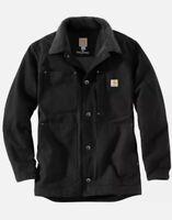 Carhartt Full Swing Chore Coat Sz 2XL Tall Jacket Black Mens Duck NWT $125 msrp