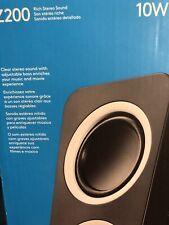 New listing z200 10 w speaker pair by logitech Nib blk