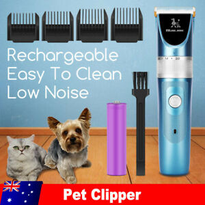 Cordless Electric Cat Dog Clippers Grooming Kit Pet Hair Trimmer USB Charging