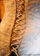 Confetti and Lace cream wedding dress Size 14 and two tiered veil