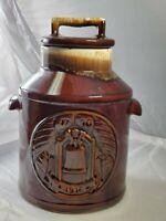 Vintage McCoy Pottery Bicentennial 76 Brown Drip Milk Jug Cookie Jar # 7019
