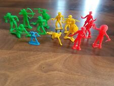 Vintage Lot of 14 Plastic Cowboys Indians Toy Figure Lot! TimMee MPC