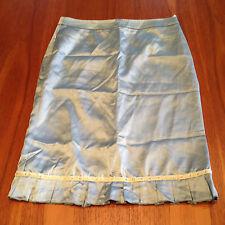 ALANNAH HILL Pale Green 'Been Up All Night' Frill Hem Straight Pencil Skirt 8