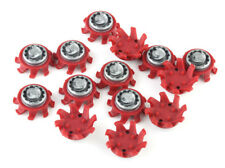 14pcs Golf Shoes Spikes TRI-LOK Fast Twist Replacement For Footjoy Red & Gray