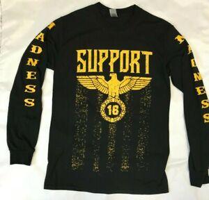 SUPPORT 16 PAGAN'S MC MOTORCYCLE CLUB GOLD EAGLE ARGO/NUNYA  LONG SLEEVE MEDIUM