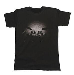 Mens ORGANIC Cotton T-Shirt DRUMS Music Instrument Musician Band Drummer Gift