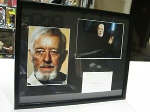 Alec Guinness Signed 14 3/4 x12 Matted Photo Display, Star Wars, Obi Wan COA