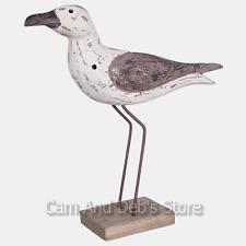 Wood Bird Seagull Sculpture Statue Ornament Figurine Home Decor