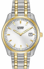 New Citizen Eco Drive Men's Dress Two Tone Stainless Steel Watch AU1044-58A