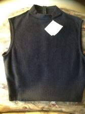 ST. JOHNS MARIE GRAY KNIT SLEEVLESS TOP NEW