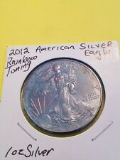 2012 Rainbow Toned American Silver Eagle, One Dollar