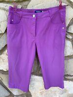DAILY SPORTS Womens Golf Shorts Size 8 Purple Stretch Bermuda Length Activewear