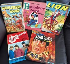 5 Books & Annuals (1950s to 70s), Huckleberry Hound, Lion, Monkees & Star Trek
