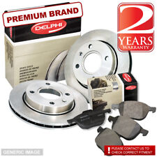 Toyota Aygo 1.0 67bhp Delphi Front Brake Pads & Discs 247mm Vented (Bosch Sys)