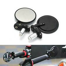 "Motorcycle Motorbike Rearview Bar End Mirrors 7/8"" CNC Aluminum Round Universal"