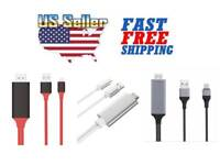 Lightning to HDMI TV AV Adapter Charger USB Cable 1080P for iPhone 6 7 8 Plus X