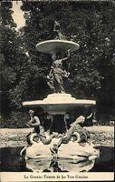 La Granja Espana Spanien AK 1932 Fuente de las Tres Gracias Brunnen Fountain