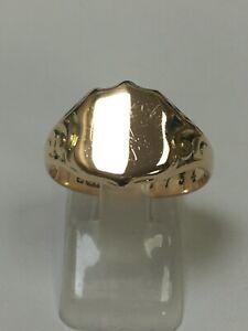Superb Antique 9 Carat Rose Gold GENTS SIGNET Ring Birmingham 1915