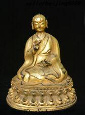 "13"" Tibet Bronze Gilt Master King Kong Vajra Kamisayashimachi Guru Buddha Statue"