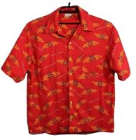 Senor Frog's Official Store men's button down short sleeve shirt red size XL/XG