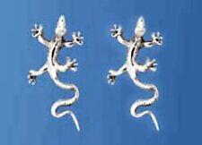 925 ECHT SILBER *** Lange Ohrstecker Echse 26 mm Eidechse Gecko Salamander