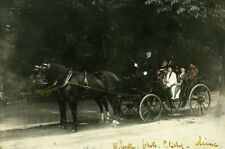 France Clichy sur Seine Horse Cart Old Photo Hand Colored 1908