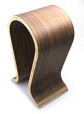Wooden Omega Headphones Stand Hanger Holder Walnut Finish Gaming Headphone Rack