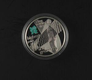 UK 2009 ANGEL OF THE NORTH - MIND SERIES - £5 SILVER PROOF - capsule coa