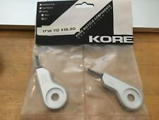 New Kore Pistols pistoles bicycle chain tensioner adjuster 3/8 axle silver Set