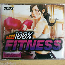 3CD NEW SEALED - 100% FITNESS ANTHEMS - Pop Dance Music 3x CD Album Box Set