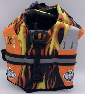 Paws Abroad Designer Doggy Life Jackets Bad to the Bone Flames Dog  XX-Small