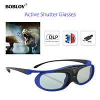 3D Active Shutter Glasses DLP-Link USB For BenQ W1070 W700 Dell Projector Local!