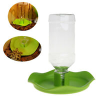 Reptile Automatic Drinking Water Dispenser Dish Feeder Bowl For Pet Tortoise